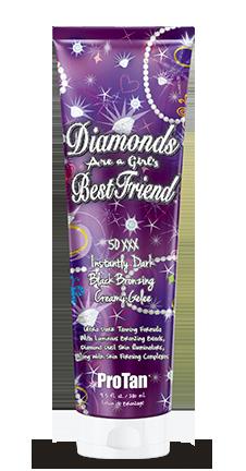 DIAMONDS ARE A GIRLS BEST FRIEND 50XXX DARK BLACK BRONZING